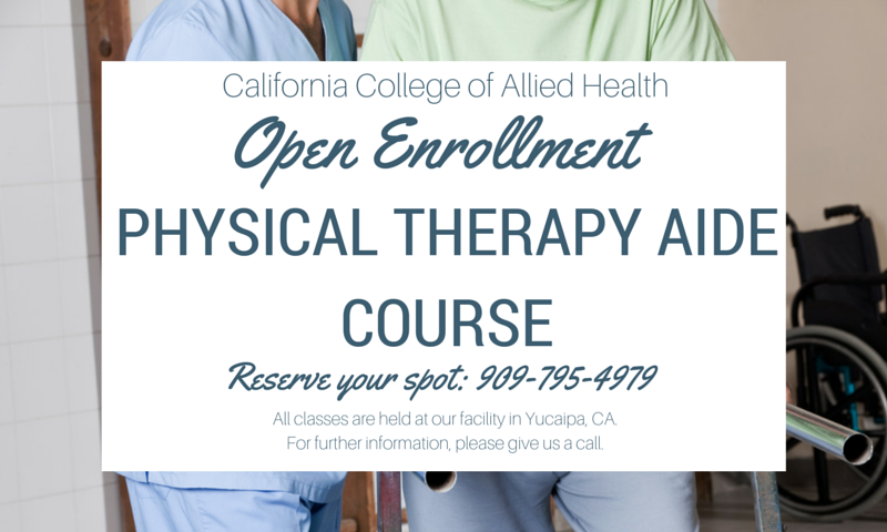 Physical Therapy Aide hands-on training program